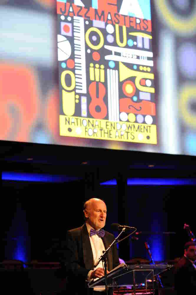 NEA Chairman Rocco Landesman addresses the crowd at the 2011 NEA Jazz Masters ceremony.