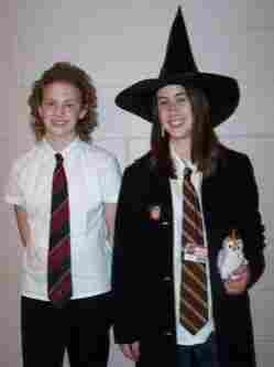 Annie Ropeik (left), pictured in 2005 wearing her Harry Potter attire, is a rising senior at Boston University with an imaginary major in  Harry Potter studies.