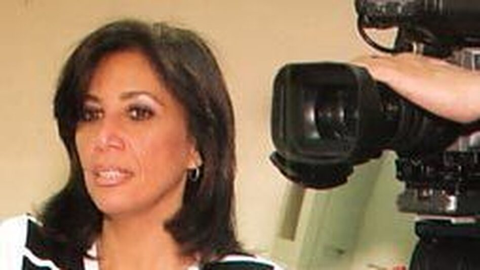 Shahira Amin, shown here in 2004, is a veteran of Egypt's State TV. She says changes at the network since Egypt's February revolution have been largely cosmetic.