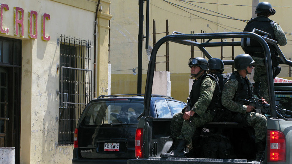 Mexican soldiers have taken control of the police department in downtown Matamoros, in the border state of Tamaulipas.