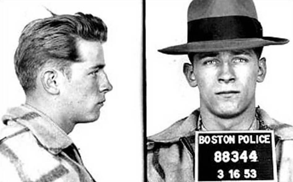 "An early mug shot shows James ""Whitey"" Bulger in 1953. (Boston Police)"