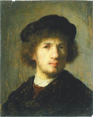 """Self portrait"" by Rembrandt, 1630"