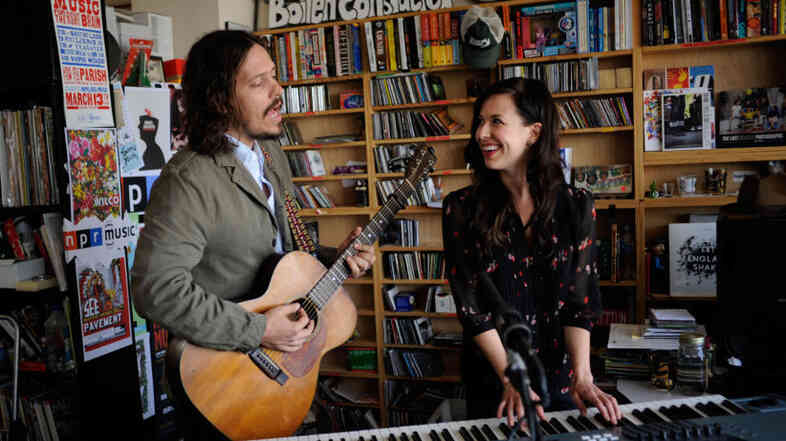 The Civil Wars perform at NPR headquarters in Washington, DC for a Tiny Desk Concert on Thursday, May 12, 2011.