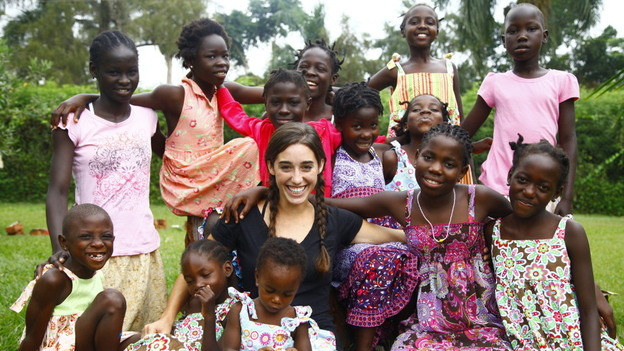 Four years ago, Katie  Davis was homecoming queen at her high school in Tennessee. Today, she cares for 13 abandoned girls at her home in Uganda. (Courtesy of Stylianos Papardelas)