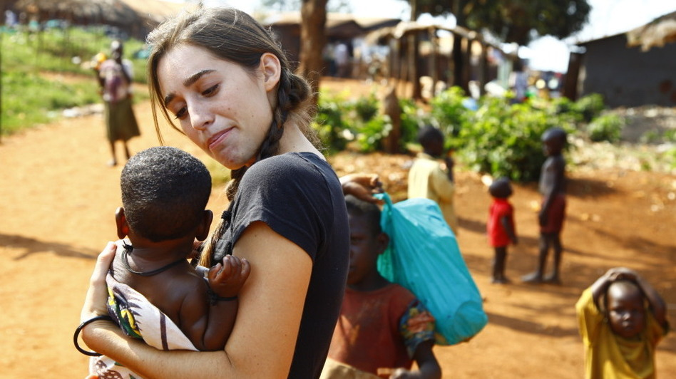 Davis has set up an organization that provides food, medication and school fees to Ugandan children. (Courtesy of Stylianos Papardelas)