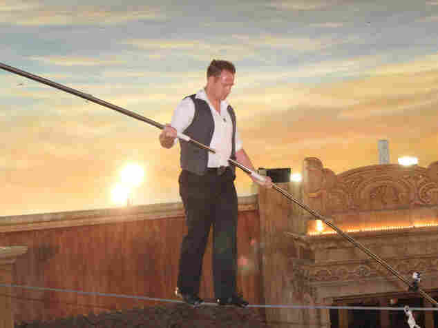 Nik Wallenda hopes to test his high-wire skills above Niagara Falls. In April, he walked above the Quarter at Tropicana Casino in Atlantic City, N.J.