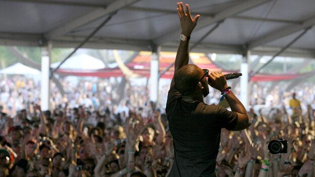 U.K. rapper Tinie Tempah (a.k.a. Patrick Chukwuemeka Okogwu) at Coachella.