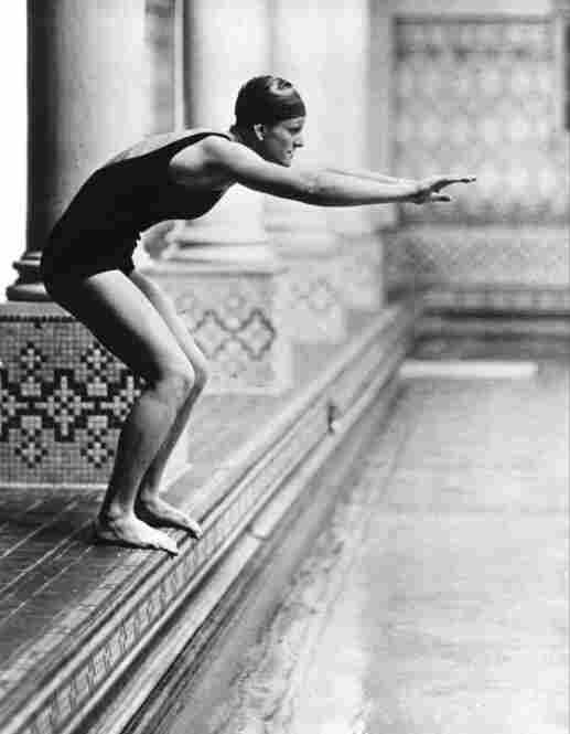 Boosted to stardom, Didrikson became a darling of the press and considered her options for turning pro. Here, she prepares to dive into a pool in White Sulphur Springs, W.Va., in December 1932.