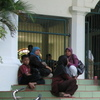 """Students and parents wait to register for a new term at Al-Zaytun, Indonesia's largest """"pesantren,"""" or  Islamic boarding school."""