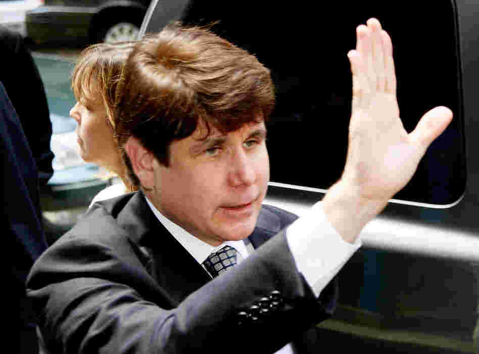 Former Illinois Governor Rod Blagojevich arrives for the verdict in his corruption retrial at the Dirksen Federal Courthouse June 27, 2011 in Chicago, Illinois.