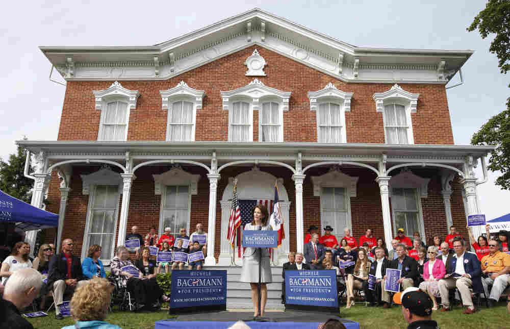 Rep. Michele Bachmann announces her presidential run, Waterloo, Iowa, June 27, 2011.