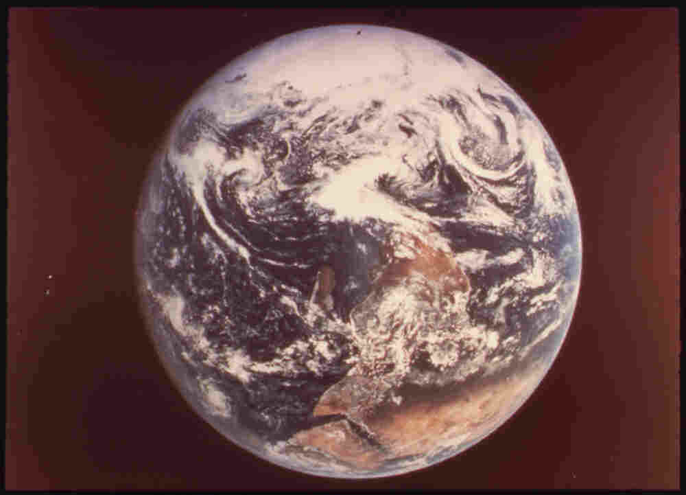 Earth, in a photo taken by Apollo 17 astronauts in 1972.