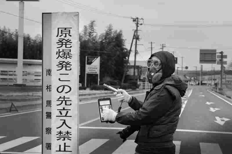 Radiation levels are measured at Minamisoma, about 16 miles north of the Fukushima nuclear station. The area still hasn't been entirely evacuated despite its proximity to the plant, which is still leaking radiation.