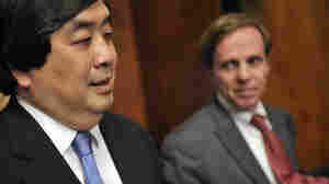 Harold Koh (left), the top lawyer at the U.S. State Department, stands with Assistant Secretary of State Michael Posner during a news conference after the United States' first review before the U.N. Human Rights Council last November.