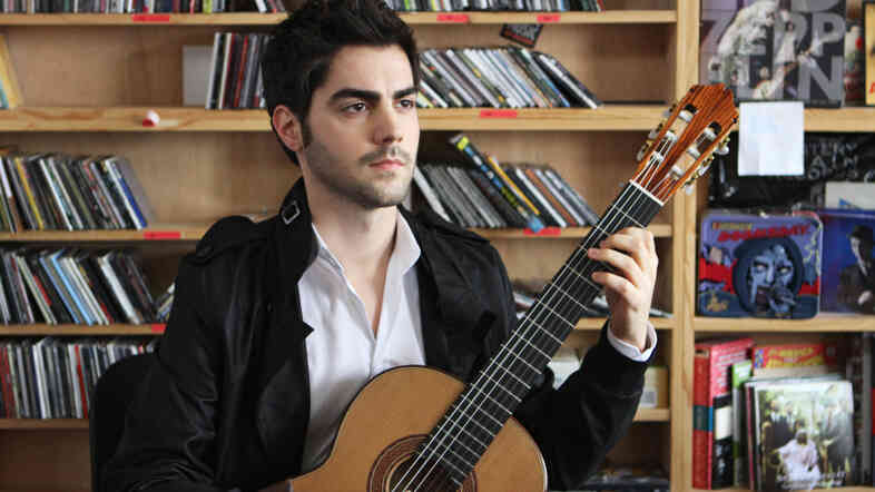 Milos Karadaglic performs classical guitar at a Tiny Desk Concert on June 24, 2011.
