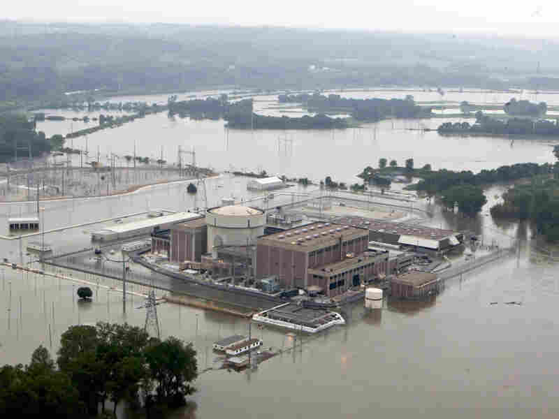 In this June 14, 2011  photo, the Fort Calhoun nuclear power station, in Fort Calhoun, Neb.,was surrounded by flood waters from the Missouri River.