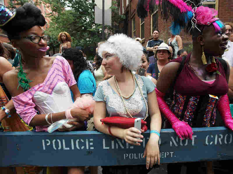 Revelers celebrate during the Gay Pride parade on June 26, 2011 in New York City.  The parade took on extra significance following Friday night's legalization of same-sex marriage in New York, often regarded as the birthplace of the gay rights movement.