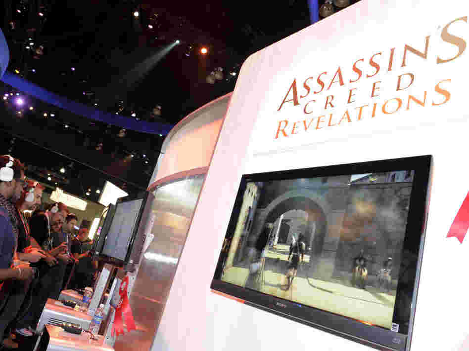 Gamers play Ubisoft's video game Assassin's Creed at the Electronic Entertainment Expo (E3) on June 9 in Los Angeles. The Supreme Court ruled Monday that California could not block minors from purchasing violent video games.