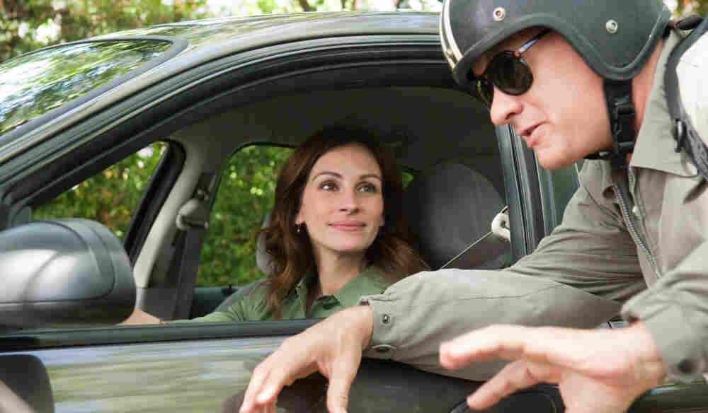 Need A Lift?: In the humble but happy Larry Crowne, Tom Hanks is a middle-aged salesman who goes back to college, where he enrolls in a class taught by Mercedes Tainot (Julia Roberts).