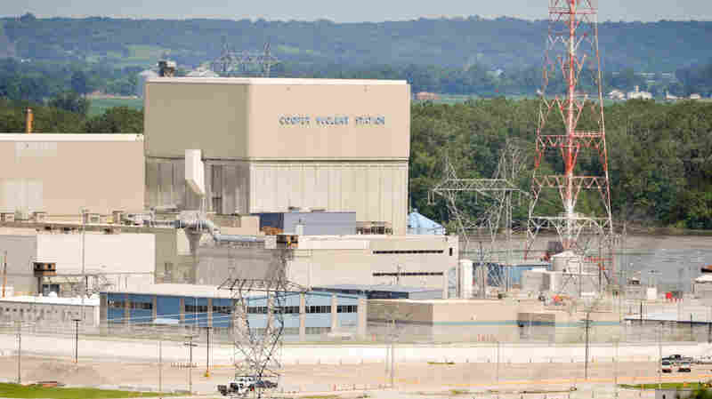 Water from the flooding Missouri River near the Cooper nuclear power plant near Brownville, Neb., reached a height of 42.5 feet on June 19. Officials say the water would need to rise an additional 2 feet before they shut the plant down.