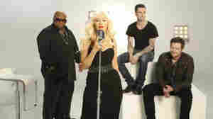 The judges of The Voice (from left to right) Cee Lo Green, Christina Aguilera, Adam Levine and Blake Shelton.