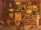 Samuel F. B. Morse, Gallery of the Louvre, 1831–1833, oil on canvas. Click here to enlarge.