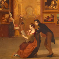 Samuel F. B. Morse, Gallery of the Louvre, 1831-1833, oil on canvas. Click here to enlarge.
