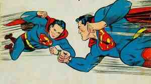 The cover of 1956's Superboy #47 presages a contemporary super-lawsuit between Superman's publisher and the heirs of his co-creator.