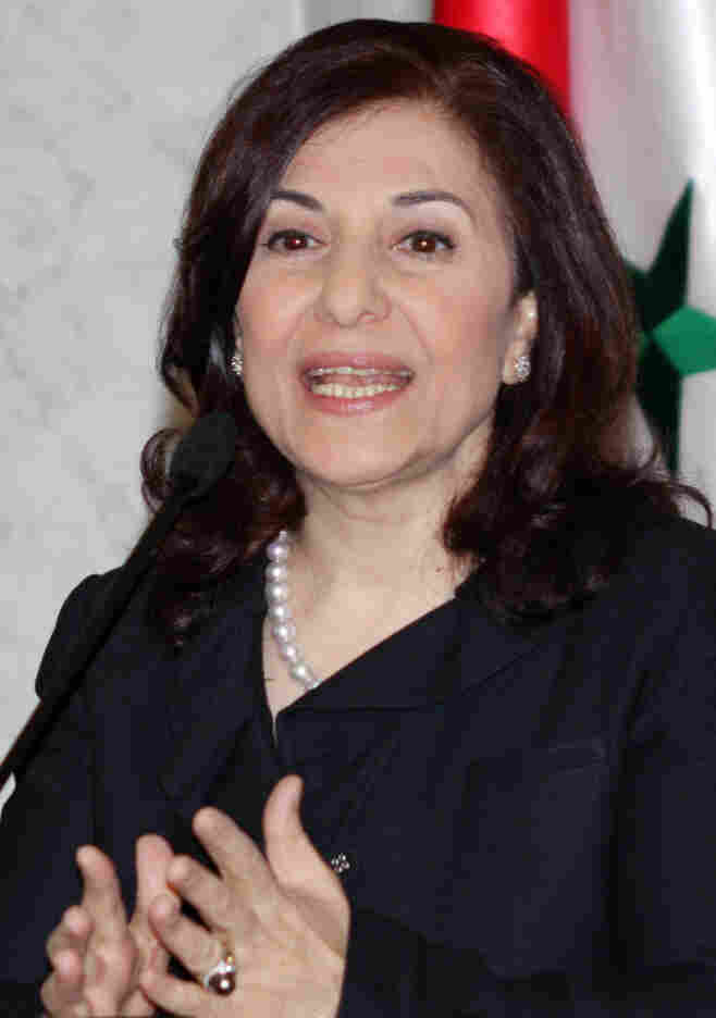Bouthaina Shaaban. (March 24, 2011, file photo taken in Damascus.)