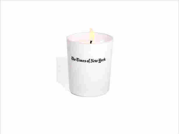 The Times of New York candle