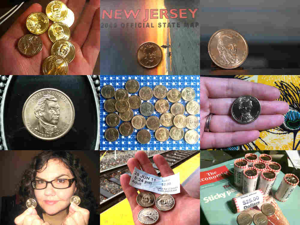 From our listeners: Dollar coins out in the world.