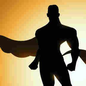 Super heroes defend a city.