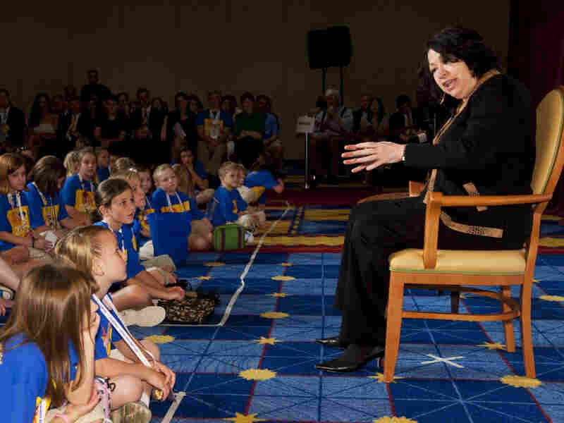 Justice Sonia Sotomayor told a group of children with type-1 diabetes about her struggles with her disease. She spoke Tuesday to the Children's Congress of the Juvenile Diabetes Research Foundation.