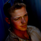 Marine Lance Cpl. Andrew Zemore, 23, from Fredericksburg, Va., is a self-described troublemaker who liked to party too much. Zemore said he fell into the Marine Corps and now is on a Explosives Ordinance Disposal team, searching out bombs with a hand-held metal detector.