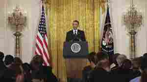 President Barack Obama discusses the debt limit and federal deficit during a news conference in the East Room of the White House in Washington, June 29, 2011.