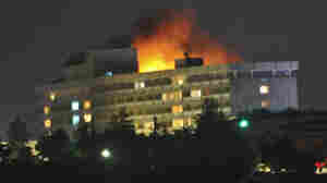 Fire broke out in Kabul's Inter-Continental Hotel on Tuesday during the attack.