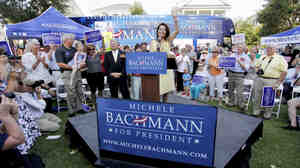 Republican presidential candidate, Rep. Michele Bachmann, R-Minn. speaks in Charleston, S.C., June 29, 2011.