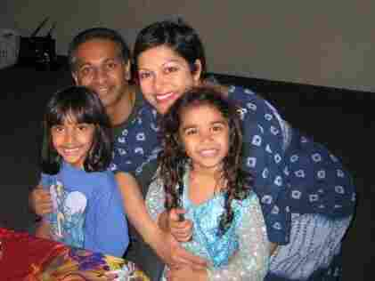Anupy Singla and her family at a birthday party.