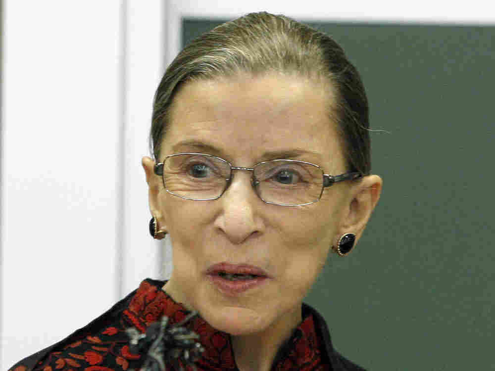 Supreme Court Justice Ruth Bader Ginsburg speaks to students at New England Law in Boston in March of 2009.