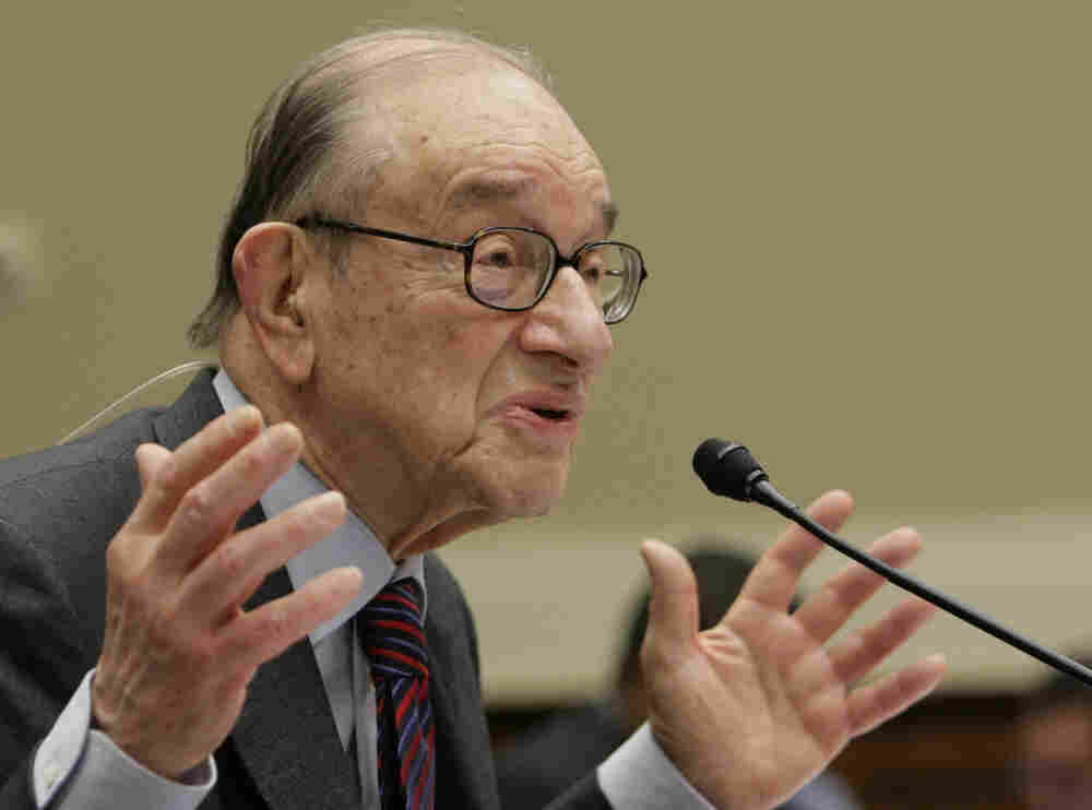 Alan Greenspan testified before Congress in 2010.
