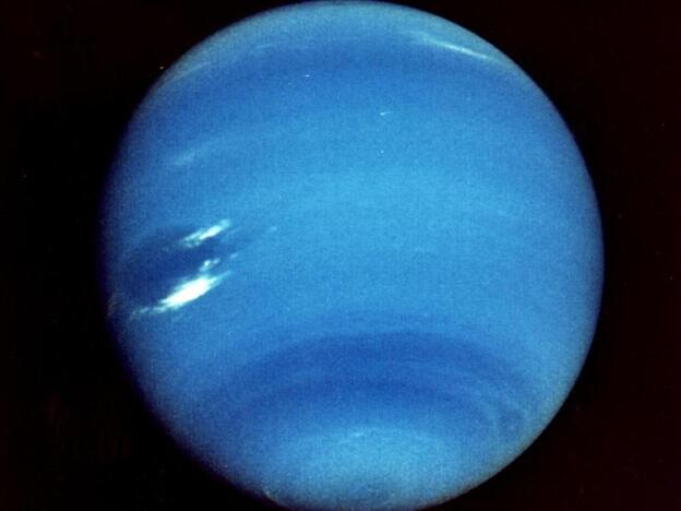An image of Neptune taken by Voyager 2 in 1989.