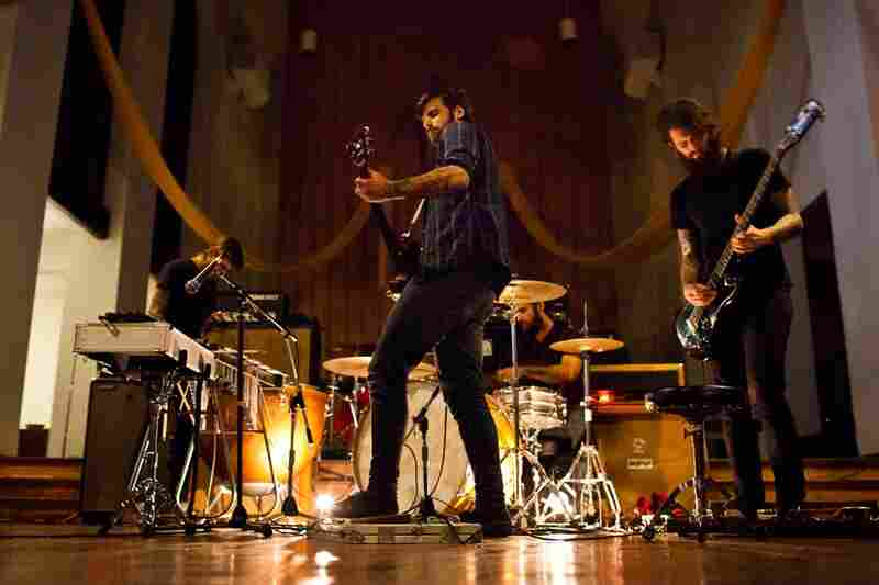 The classical-leaning post-rock band Braveyoung opens for The Body.