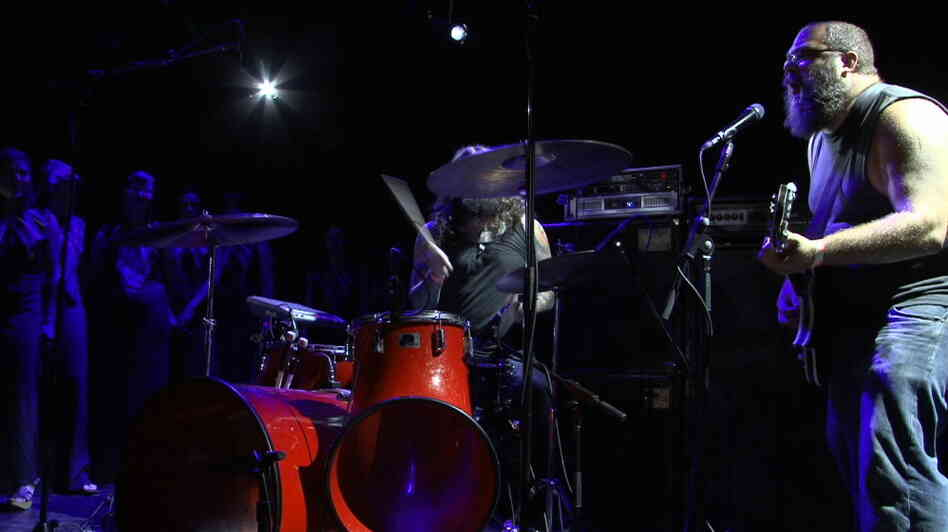 The Body performs with the Assembly of Light Choir at Le Poisson Rouge in New York City.