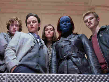 The X-Men franchise released its fifth film this year. X-Men: First Class stars Caleb Landry Jones (from left), James McAvoy, Rose Byrne, Jennifer Lawrence and Lucas Till.