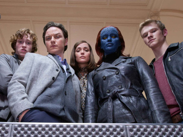 The X-Men franchise released its fifth film this year. <em>X-Men: First Class</em> stars Caleb Landry Jones (from left), James McAvoy, Rose Byrne, Jennifer Lawrence and Lucas Till.