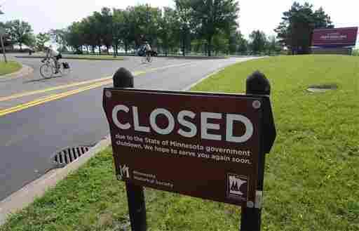 Like state parks all around Minnesota, the Fort Snelling historic site in Minneapolis is closed.