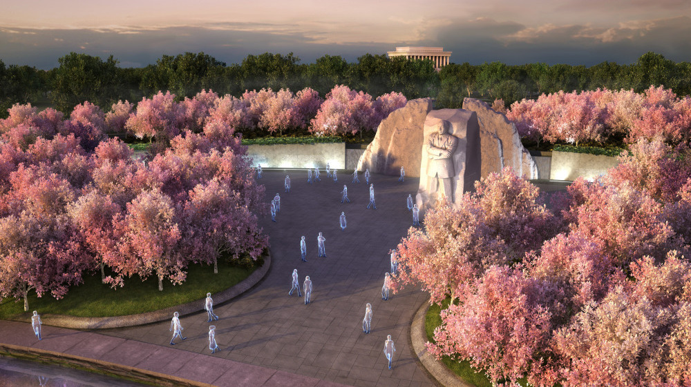 King S Memorial Takes Shape Near His Dream Spot Npr