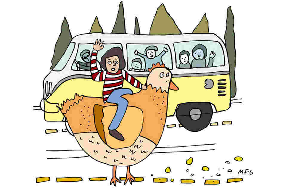 """ ... that, 'She's got a ticket to ride' was not 'She's got a chicken to ride.' """
