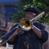 Antoine Batiste (Wendell Pierce) leads his students on a busking adventure in the French Quarter on Treme.