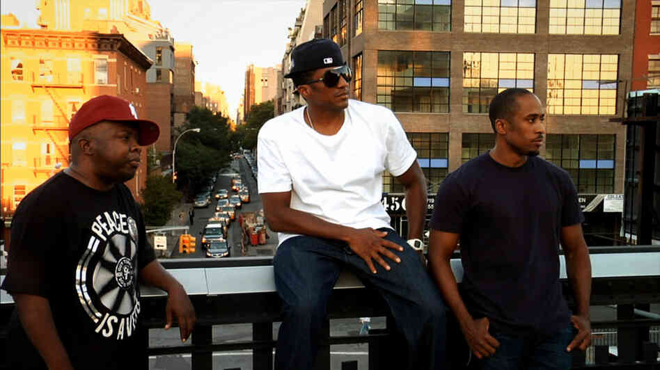Midnight Marauders: Phife Dawg (from left), Q-Tip and Ali Shaheed Muhammad ruminate on their success in the hip-hop world. The film, named after A Tribe Called Quest's best-selling 1996 album, lavishes attention on the group's history of conflict and dysfunction.